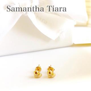 サマンサティアラ(Samantha Tiara)のサマンサ ティアラ Samantha K18PG ダイヤ ハート ピアス 新品(ピアス)