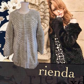 リエンダ(rienda)のウェービング♡ファー♡ミディコート(毛皮/ファーコート)