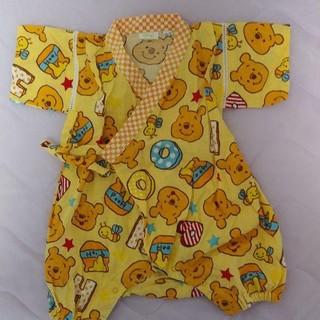 ディズニー(Disney)のくまのプーさん 甚平 ロンパース 浴衣 60~70㎝ ディズニー  (甚平/浴衣)