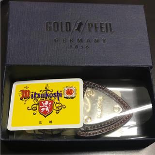 ゴールドファイル(GOLD PFEIL)のGOLD PFEIL レザーコンビキーホルダー(キーホルダー)