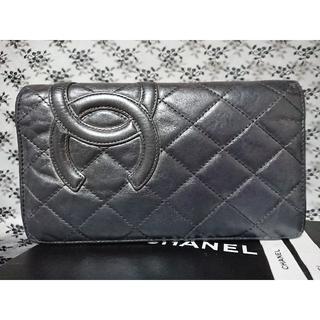 シャネル(CHANEL)のシャネル CHANEL カンボンライン 長財布 黒 お財布(財布)