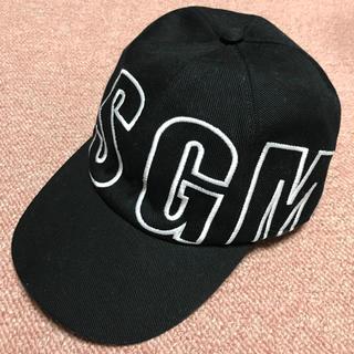 エムエスジイエム(MSGM)のMSGM キャップ 正規品 ブラック フリーサイズ(キャップ)
