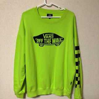 ヴァンズ(VANS)のvans トレーナー 蛍光色(スウェット)