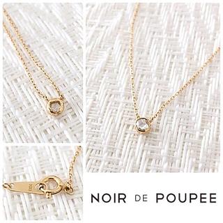 ノワール(NOIR)のNOIR DE POUPEE ノワールドプーペ K18 ダイヤモンドネックレス(ネックレス)