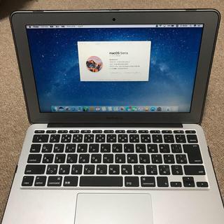 マック(Mac (Apple))のMacbook Air 11インチ SSD128GB(ノートPC)