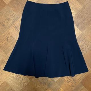 デミルクスビームス(Demi-Luxe BEAMS)のデミルクス ビームス フレアースカート ネイビー(ひざ丈スカート)
