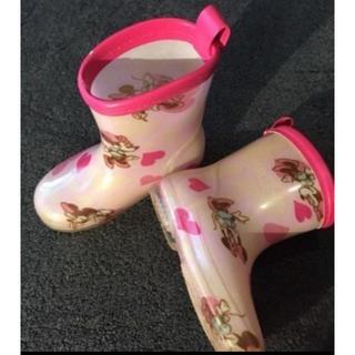 ディズニー(Disney)のDisney ミニーレインブーツ 14センチ(長靴/レインシューズ)