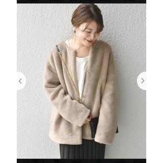 シップス(SHIPS)の♡ボア ノーカラーコート♡今期新作(ノーカラージャケット)