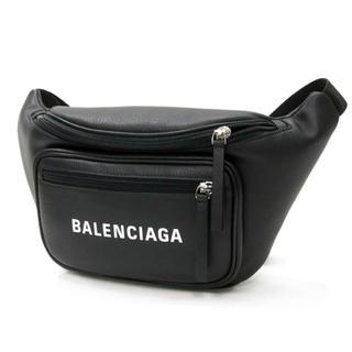 バレンシアガ(Balenciaga)のバレンシアガ  ホワイトロゴ レザー ボディバッグ ウエストポーチ  新品(ボディーバッグ)