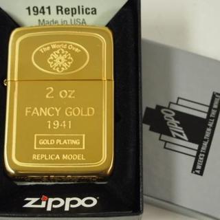 ジッポー(ZIPPO)のZippo1941 ゴールド インゴット Gold Ingot 金メッキ(タバコグッズ)