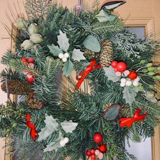 クリスマス ナチュラルリース 45cm(リース)