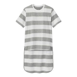 キムジョーンズ(KIM JONES)のGU KIM JONESコラボ ボーダー Tシャツ グレー (Tシャツ/カットソー(半袖/袖なし))
