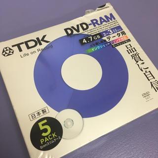 ティーディーケイ(TDK)のTDK  DVD-RAM 4.7GB × 5枚  データ用 送料込み(PC周辺機器)