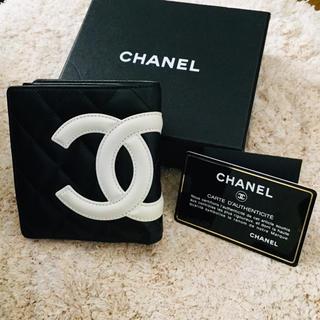 シャネル(CHANEL)の未使用 CHANEL カンボンライン 二つ折り財布(財布)