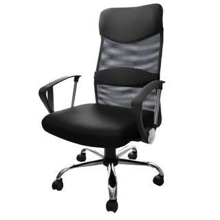 ハイバックオフィスチェア 着脱可能腰サポートクッション(オフィスチェア)