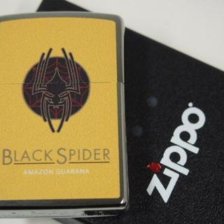 ジッポー(ZIPPO)のZippo たばこ BLACK SPIDER(ブラックスパイダー)イエロー★人気(タバコグッズ)