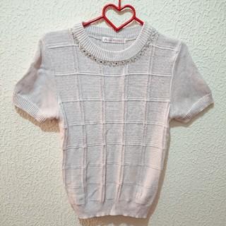 シマムラ(しまむら)のしまむら ビジュー付き ニット♥️Lサイズ セーター INGNI(ニット/セーター)