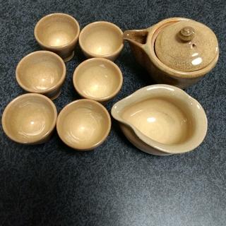 萩焼煎茶セット 中古品(陶芸)