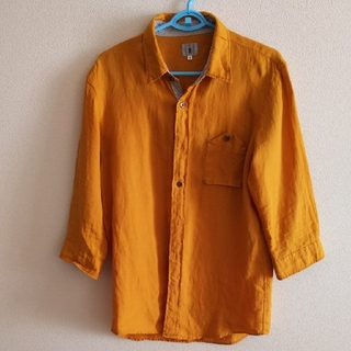 TK マスタード色のシャツ 7分丈