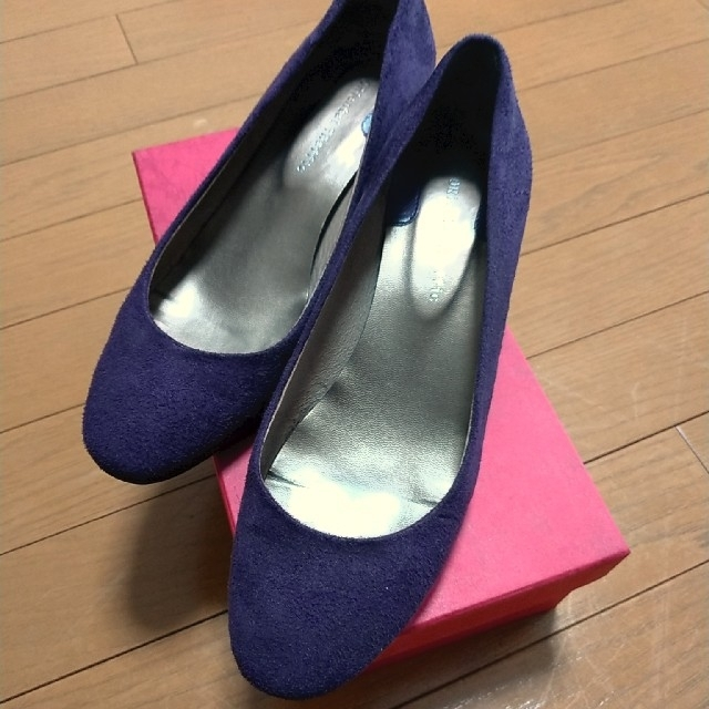ORiental TRaffic(オリエンタルトラフィック)のパンプス スウェード パープル オリエンタルトラフィック レディースの靴/シューズ(ハイヒール/パンプス)の商品写真