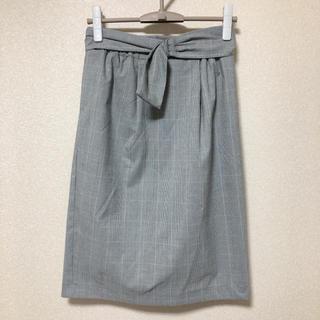 シマムラ(しまむら)のしまむら グレンチェック タイトスカート ベルト(ひざ丈スカート)