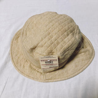 ムジルシリョウヒン(MUJI (無印良品))の無印良品 平天帽子 キルティング 54cm ハット 帽子(帽子)