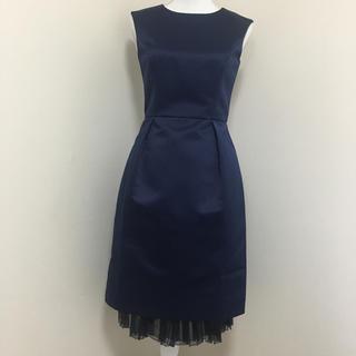 美品 ストロベリーフィールズ ネイビー ワンピース ドレス