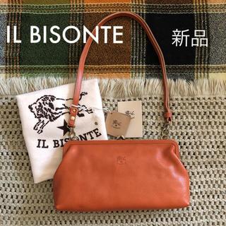 イルビゾンテ(IL BISONTE)のヤキヌメ♡価格3.7万✱イルビゾンテ✱がま口 3way レザー バッグ✱キャメル(ショルダーバッグ)