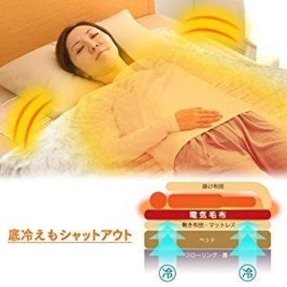 電気敷き毛布140×80cmアイリスオーヤマ(ホットカーペット)