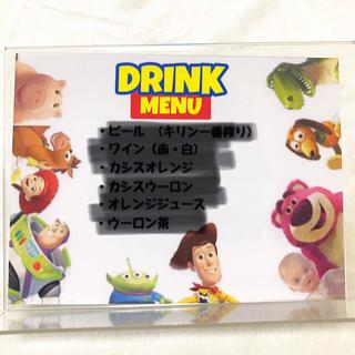 ディズニー(Disney)のドリンクメニュー 10個セット メニュー立て付き!(その他)