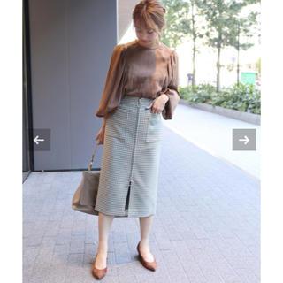 ノーブル(Noble)のNoble●ガンクラブチェックフープジップタイトスカート(ひざ丈スカート)