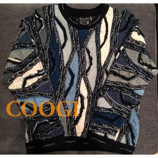 クージー(COOGI)の送料無料 Coogi クージー ニット セーター SSサイズ ブルー ブラック(ニット/セーター)
