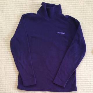 モンベル(mont bell)のモンベル  レディース S プルオーバー  セーター フリース 紫 タートル(ニット/セーター)