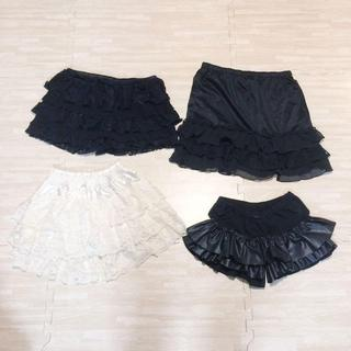 バブラス(BUVRUS)のペチコートショートパンツ スカパン スカート 4枚(ミニスカート)