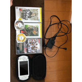 プレイステーションポータブル(PlayStation Portable)のPSP 3000本体 ホワイト カセット ケース(携帯用ゲーム本体)