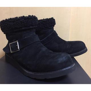 イサムカタヤマバックラッシュ(ISAMUKATAYAMA BACKLASH)のバックラッシュBACKLASHムートンショートエンジニアブーツ黒27cm(ブーツ)
