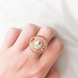 ロキエ(Lochie)の♥️ Vintage rétro Tulip pearl ring 🌷(リング)