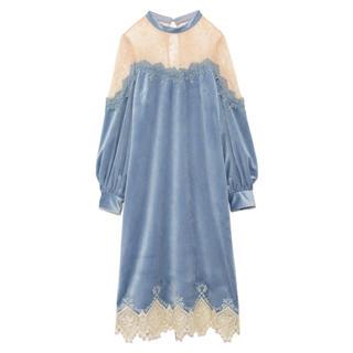 リリーブラウン(Lily Brown)のベロアシアーロングドレス(ロングドレス)
