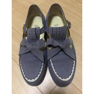 ピンクハウス(PINK HOUSE)のカネコ イサオ KANEKO ISAO PINKHOUSE リボンシューズ 靴 (ローファー/革靴)