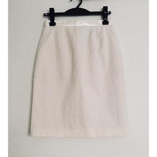 アンナルナ(ANNA LUNA)の新品 AnnaLuna アンナルナ 台形スカート 花柄 白 オフホワイト(ひざ丈スカート)