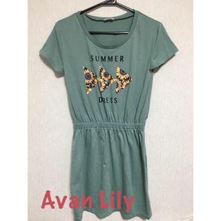 アバンリリー(Avan Lily)のAvan Lily ミニワンピース(ミニワンピース)
