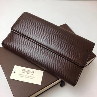 ルイヴィトン(LOUIS VUITTON)の正規品 タグ付 ルイヴィトン エピ  モカ 3つ折長財布(財布)
