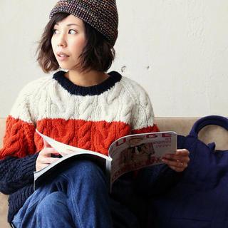 パティ(Patti)のニット 長袖 セーター ウール トリコロール(ニット/セーター)