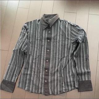 テットオム(TETE HOMME)のラメ入りのストライプシャツ(シャツ)
