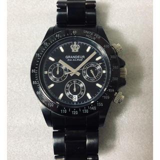 グランドール(GRANDEUR)の値下げ❗️GRANDEURグランドール クロノグラフ 購入価格15000円(腕時計(アナログ))