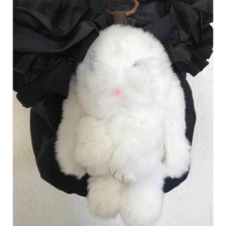 ザラ(ZARA)の本日限定お値下♡♡ ウサギ ラビットファー バッグチャーム♡♡ 白(バッグチャーム)