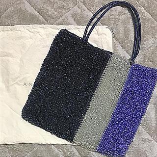 アンテプリマ(ANTEPRIMA)の極美品 アンテプリマ ANTEPRIMA スクエア ワイヤーバッグ ブルー(ハンドバッグ)