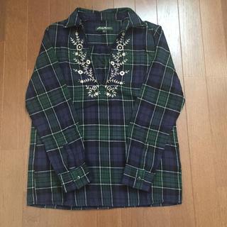 エディーバウアー(Eddie Bauer)のエディバウアー 刺繍ネルシャツ(シャツ/ブラウス(長袖/七分))