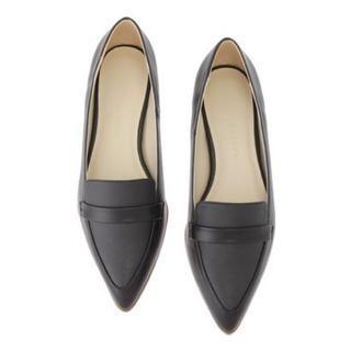 マーキュリーデュオ(MERCURYDUO)のMERCURYDUO ローファー風異素材フラットシューズ(ローファー/革靴)