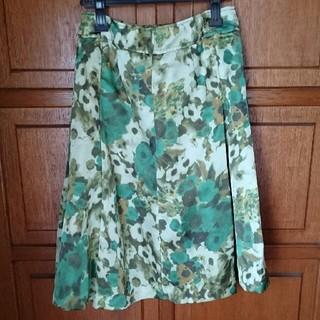 インゲボルグ(INGEBORG)の6   新品【インゲボルグ】グリーンスカート(ひざ丈スカート)
